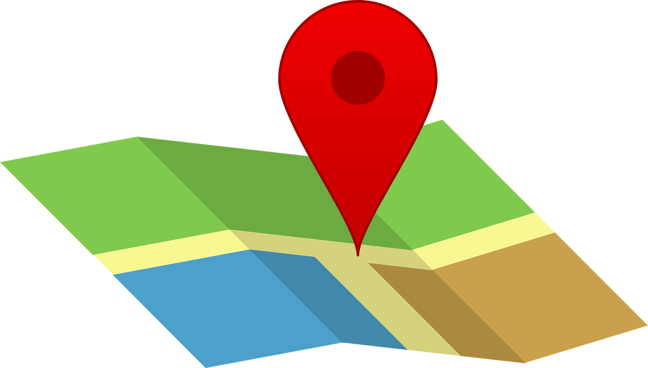 map, pin, icon